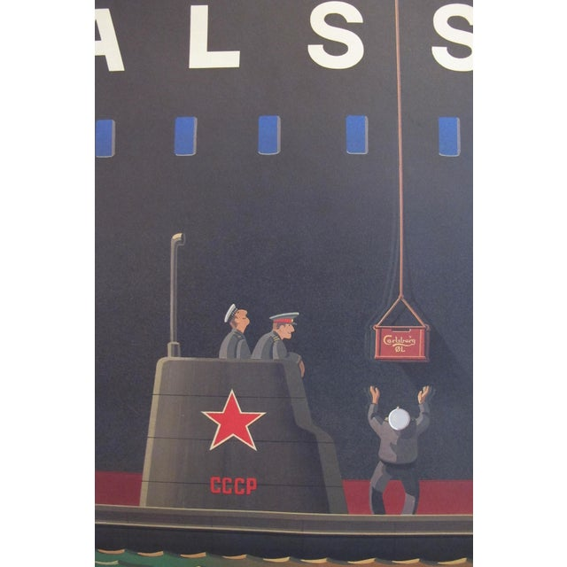 Contemporary Original 1980's Danish Design Poster, Russian Submariners For Sale - Image 3 of 4