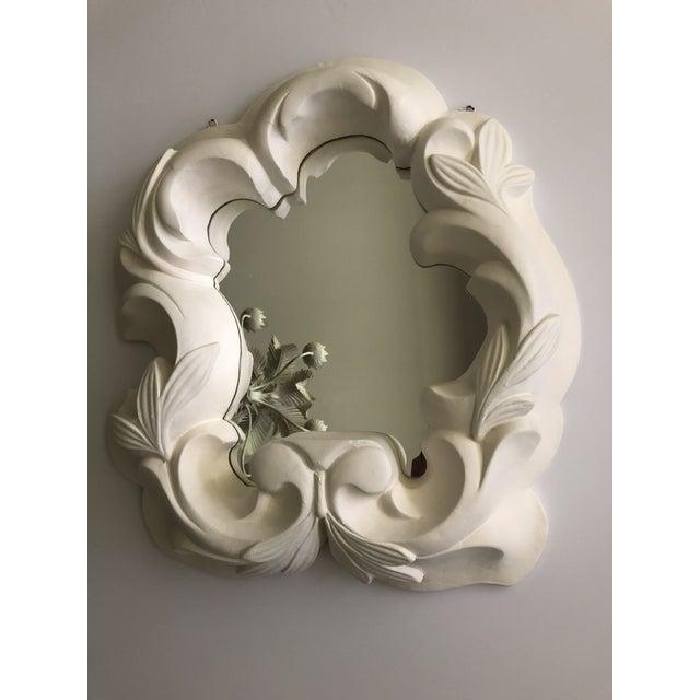 Vintage Hollywood Regency Plaster Mirror For Sale - Image 12 of 13