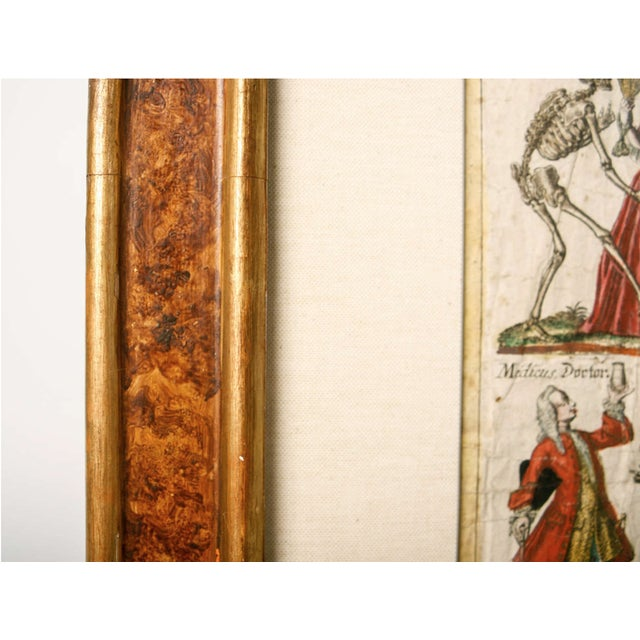 "Red 19th Century German ""Dance With Death"" Aquatints Prints - a Pair For Sale - Image 8 of 10"