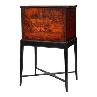 1860s English Tea Box on Stand For Sale