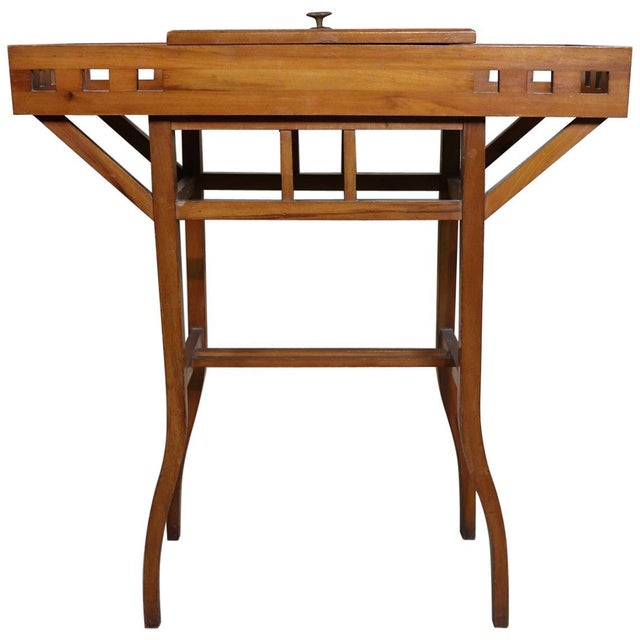 20th Century Italian Art Nouveau Sewing Table or Side Table For Sale - Image 10 of 10