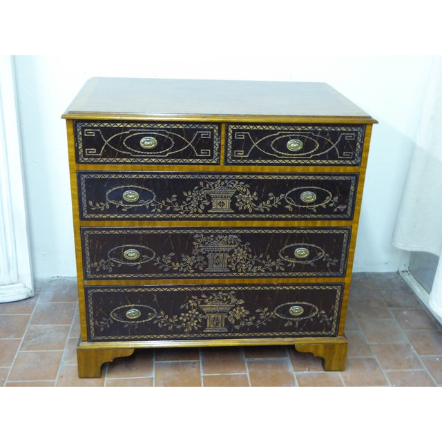 20th Century Maitland Smith Leather Clad Chest Drawers For Sale - Image 9 of 9