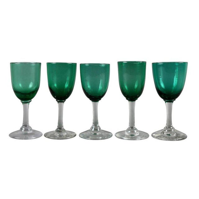 Collection of 61 Green Glasses For Sale - Image 9 of 10