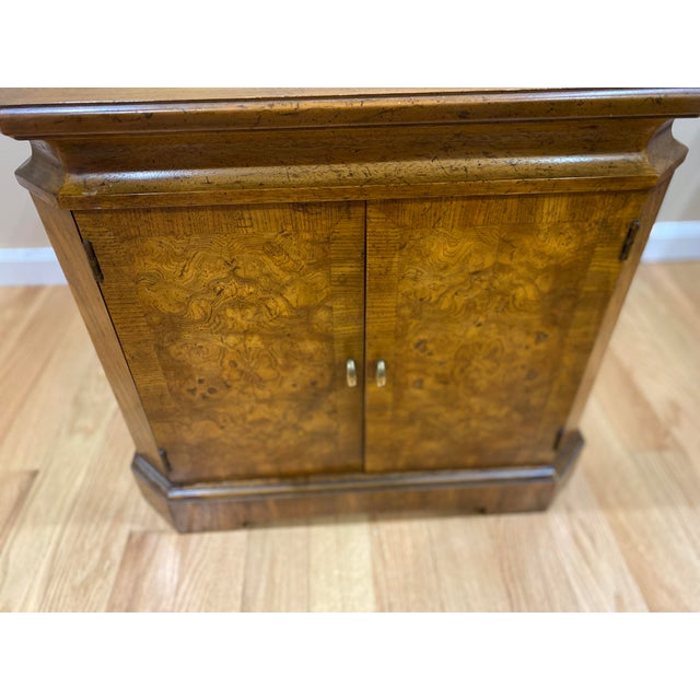 Mid 20th Century Vintage Drexel Heritage Wood Table With Storage For Sale - Image 5 of 8