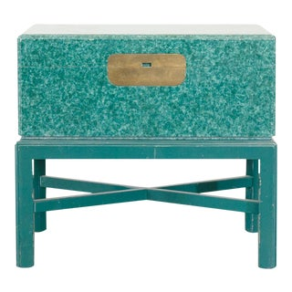 20th Century Campaign Marge Carson Trunk Side Table For Sale