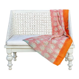 Sienna Bengal Kantha Throw For Sale