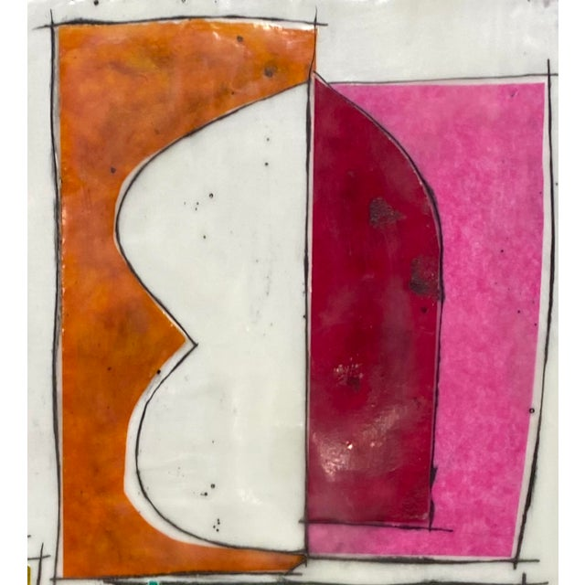 """Abstract """"Based on a True Story"""" Encaustic Collage Painting by Gina Cochran For Sale - Image 3 of 7"""