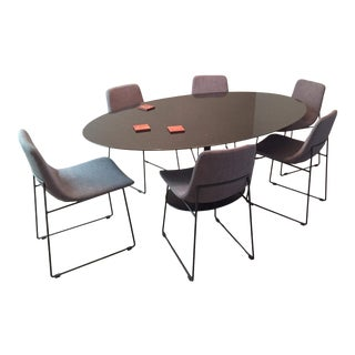 Modern Marble Dining Set For Sale