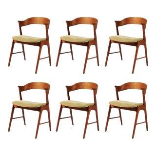 Mid-Century Modern Restored Danish Teak Dining Chairs - Set of 6 For Sale