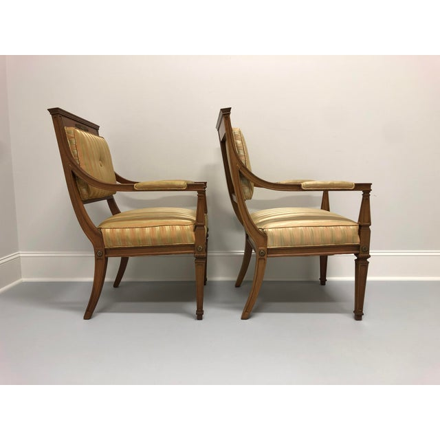 Vintage Mid 20th Century French Provincial Louis XVI Lounge Chairs - a Pair For Sale - Image 4 of 13