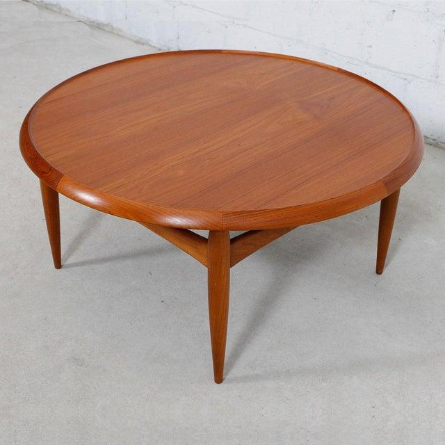 Danish Modern Teak Finn Juhl Style Reversible Coffee Table - Image 4 of 10
