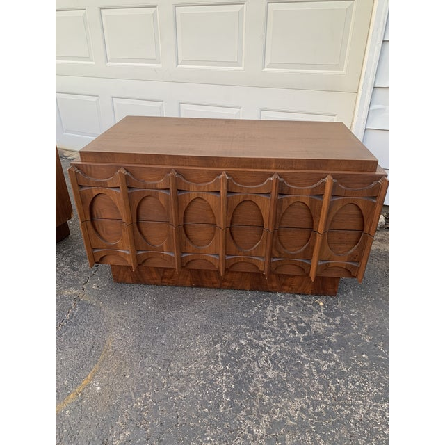1970s Vintage Brutalist Canadian Walnut Gentlemen's Chest For Sale - Image 12 of 13