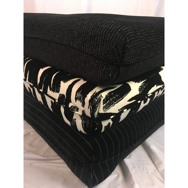Black Contemporary Three Pillow Stool For Sale - Image 8 of 10