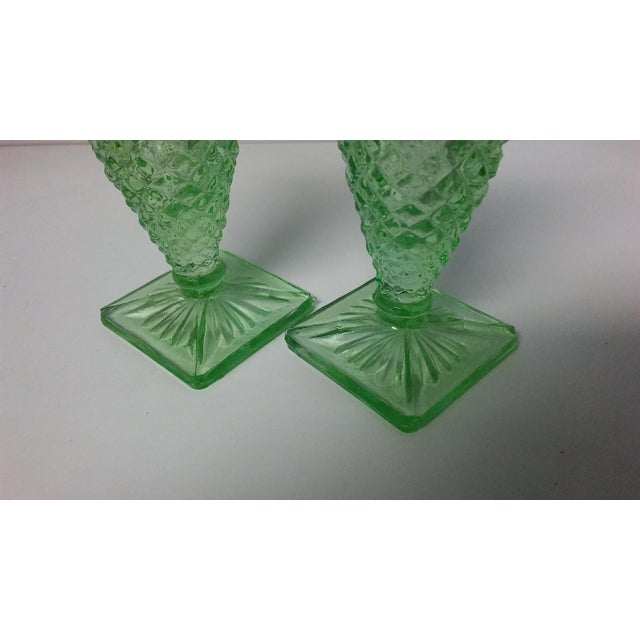 Metal Vintage Miss America Green Salt and Pepper Shakers - a Pair For Sale - Image 7 of 10