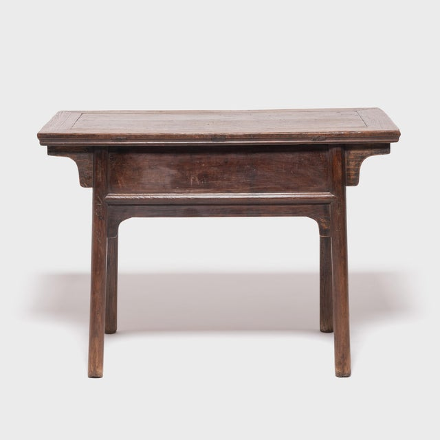 Asian 19th Century Chinese Two Drawer Provincial Table For Sale - Image 3 of 8