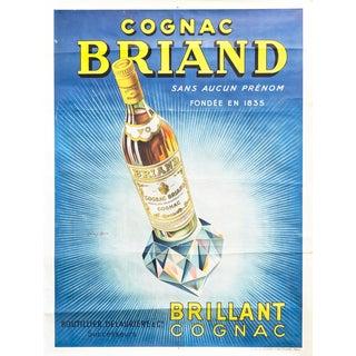 1925 Original French Art Deco Cognac Briand Poster For Sale
