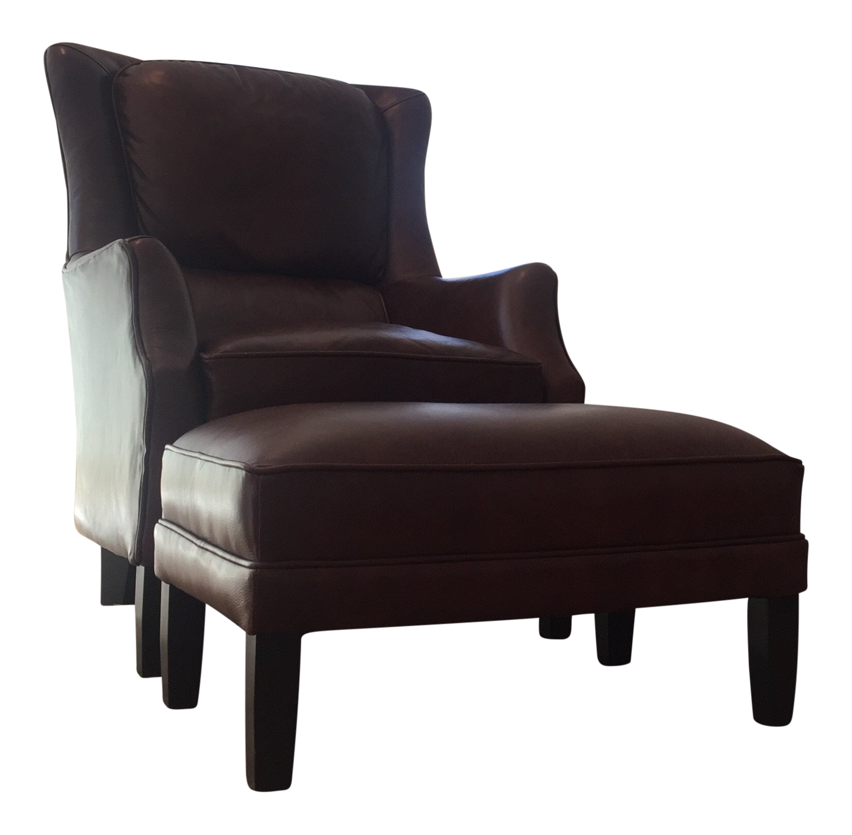 Bon Arhaus Leather Alex Chair U0026 Ottoman