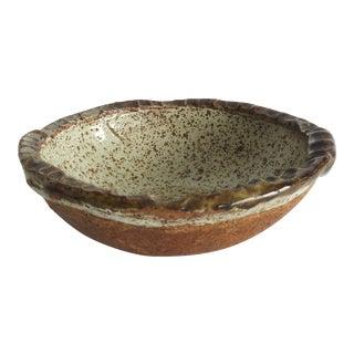 1970s Rustic Studio Ceramic Bowl