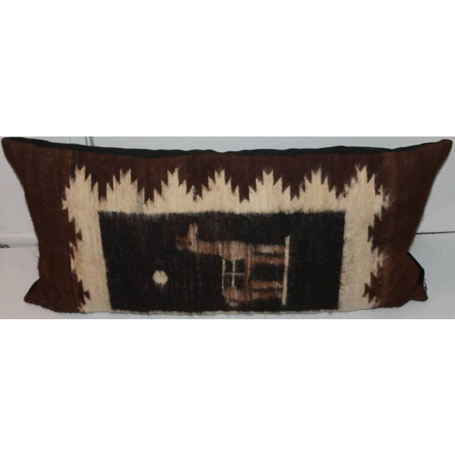 This soft and luxurious lambs wool pillow has a wonderful fun lama and is a weaving from Peru. This Peruvian Indian...
