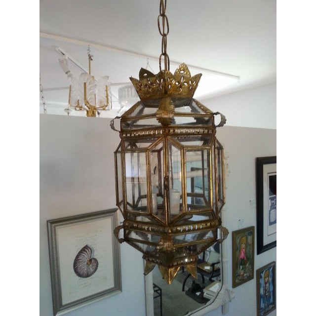 Mid-Century Spanish Colonial Style Chandelier For Sale - Image 9 of 12