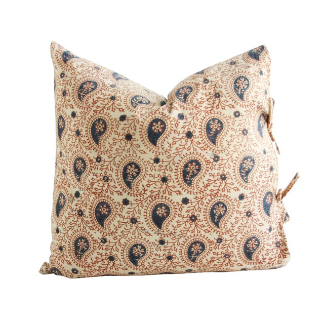 Les Indiennes Paisley Printed Pillow - Image 1 of 2