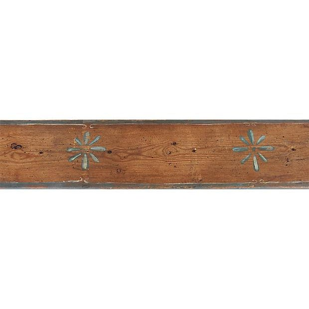 Blue 1930s Hand-Painted Farmhouse Country Bench For Sale - Image 8 of 13