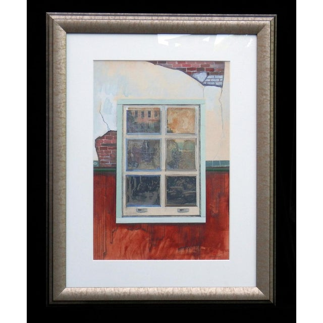 Modern 1960s Vintage Robert S. Moskowitz Window Painting For Sale - Image 3 of 3