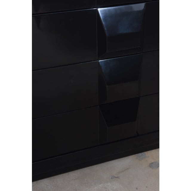 Poltronova Italian Modern Black Lacquered Nightstands, Poltronova, 1960's For Sale - Image 4 of 10