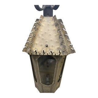 Brutalist Style Bronze Wall Sconce For Sale
