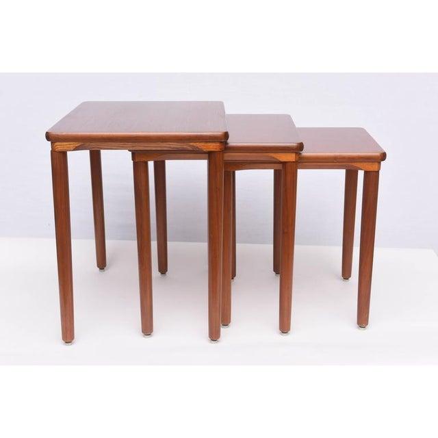 Sophisticated Danish Teak Nesting Tables By Ew Bach 1960s Denmark