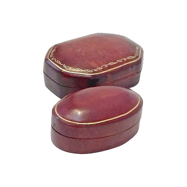 Early 20th Century Vintage Florentine Leather Snuff Boxes - a Pair For Sale In Atlanta - Image 6 of 6