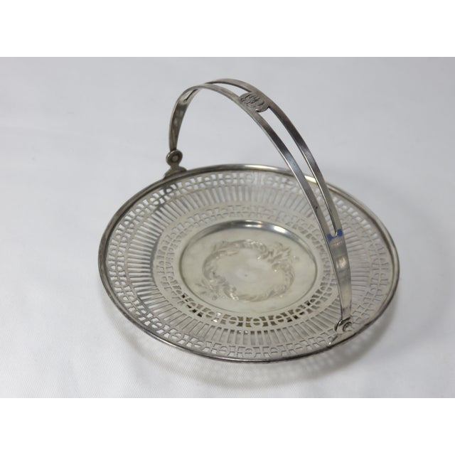Antique Sterling Silver Mint - Candy Serving Basket For Sale - Image 11 of 12
