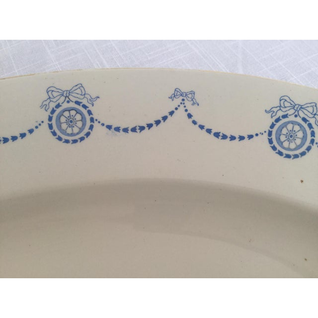 Ceramic Blue & White Oval Imperial Porcelain Platter For Sale - Image 7 of 13