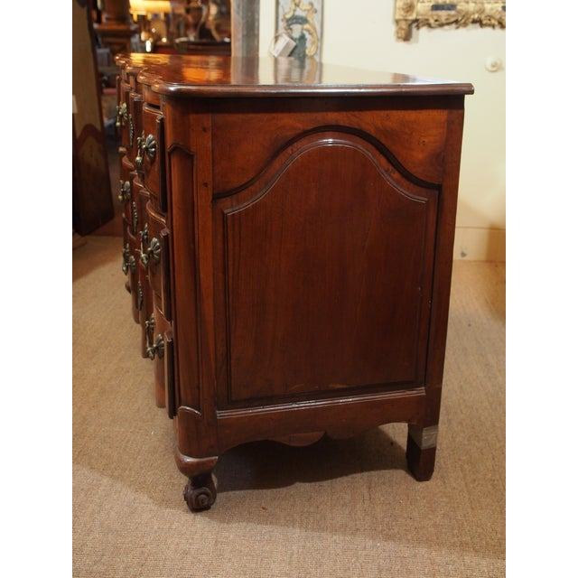 Brown Louis XV Walnut Commode For Sale - Image 8 of 9