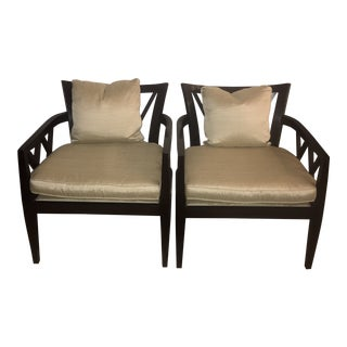 Modern Baker by Barbara Barry Double X-Back Chairs- A Pair For Sale