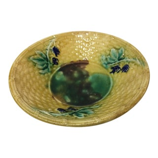 Textured Small Ceramic Floral Dish For Sale