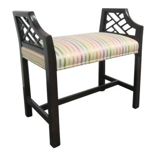 Wellinton Hall Chippendale Vanity Bench For Sale