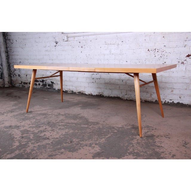 1950s Paul McCobb Planner Group Maple Extension Dining Table For Sale - Image 13 of 13