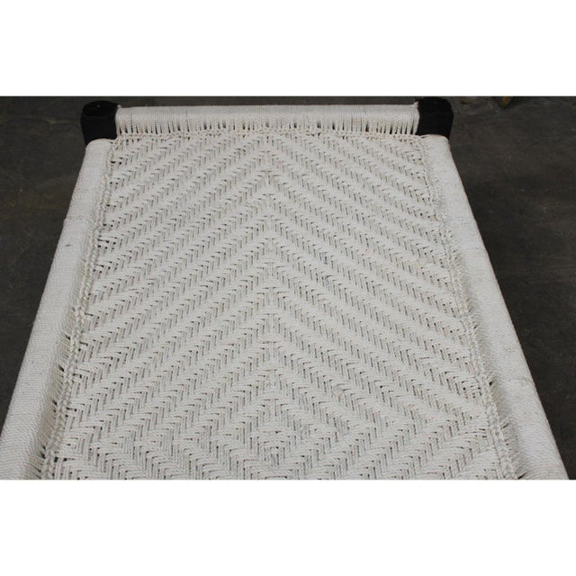 Farmhouse Vintage Handcrafted Rope Daybed For Sale - Image 3 of 5