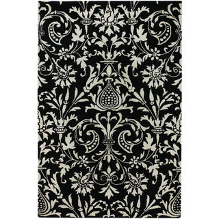Surya Black & White Contemporary Rug - 9′ × 13′