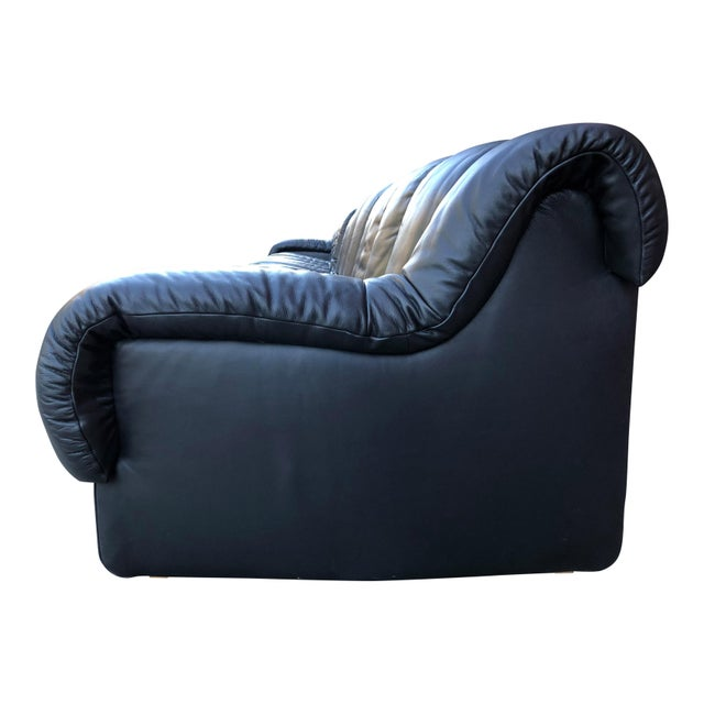 De Sede Non Stop Sofa in Black Leather, 22 Elements For Sale - Image 11 of 13
