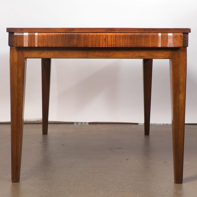 French Art Deco Burled Elm Table - Image 3 of 9