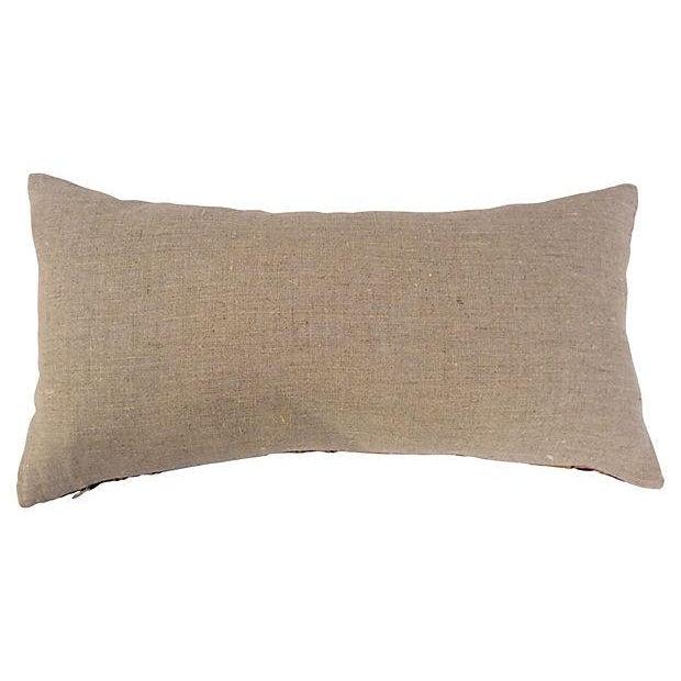 Embroidered Silk Crane Boudoir Pillows - A Pair - Image 5 of 5