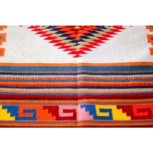 Traditional Sarape Wool Rug - Image 3 of 6