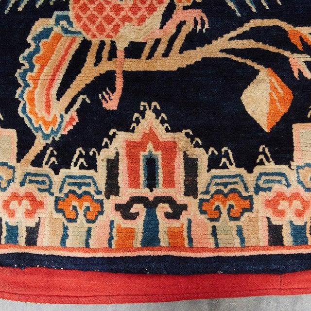 Antique Tibetan Woolen Saddle Blanket For Sale In Los Angeles - Image 6 of 6
