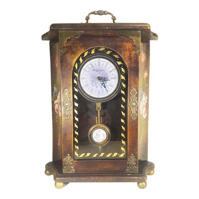 Vintage Mantel Pendulum Clock - Image 1 of 7