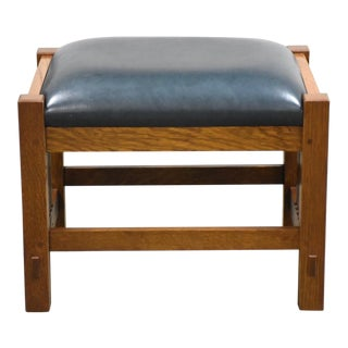 Stickley Oak Mission Footstool Ottoman Mid Century Modern For Sale