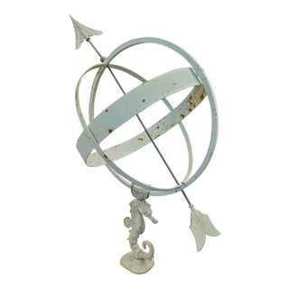 Mid Century Sune Rooth Seahorse Armillary For Sale