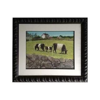 Block Island Cows Watercolor For Sale