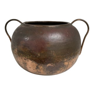 Early 20th Century Antique Copper Vessel For Sale